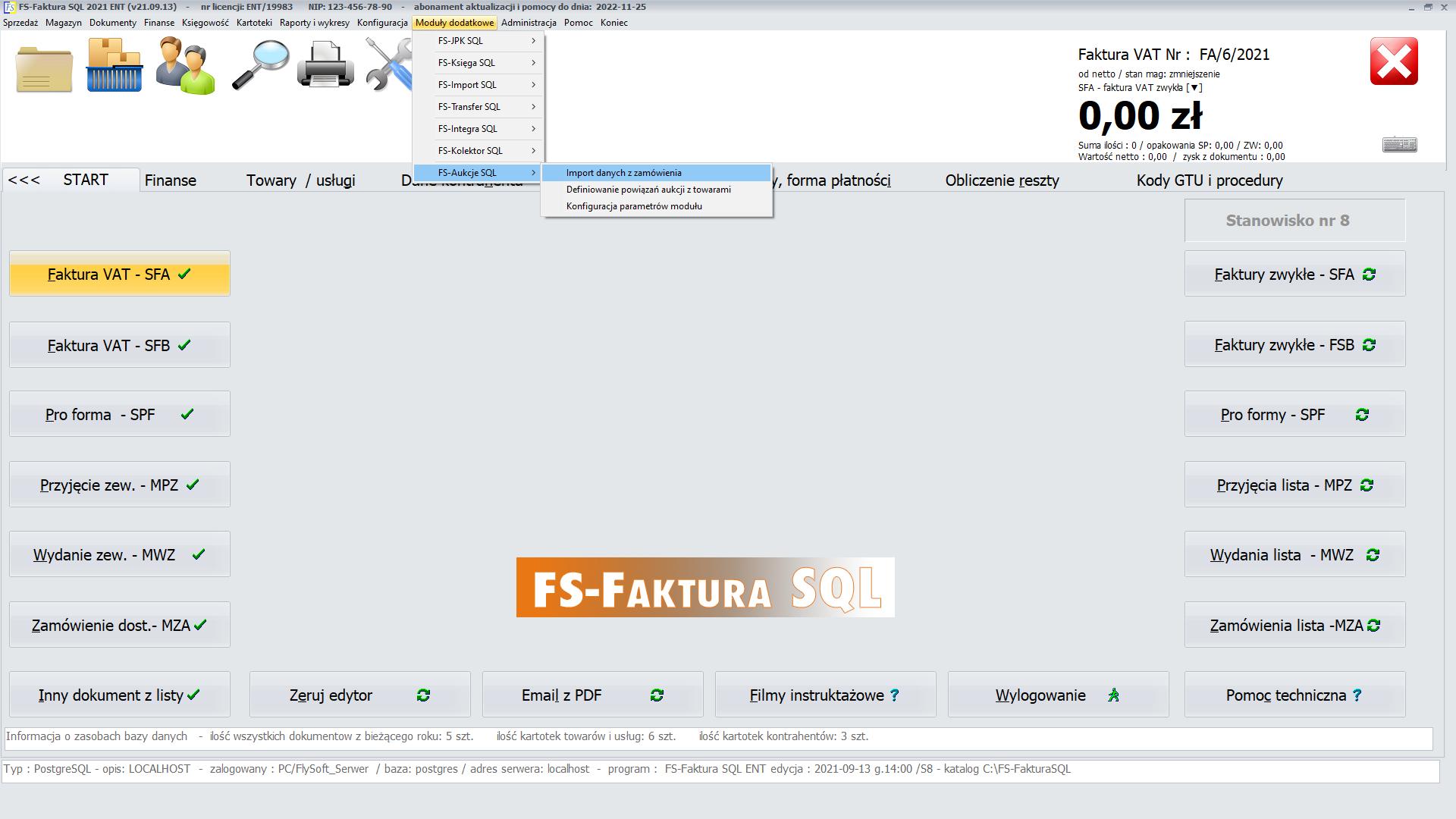 FS-Aukcje SQL