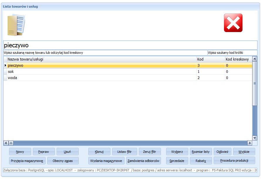 FS-Faktura SQL