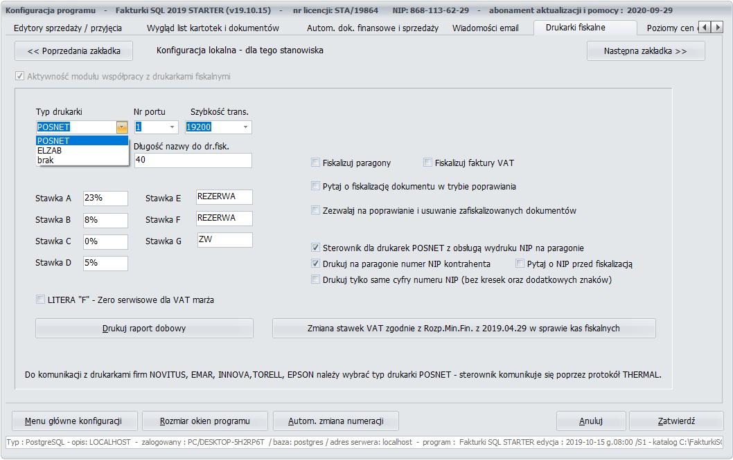 Fakturki SQL