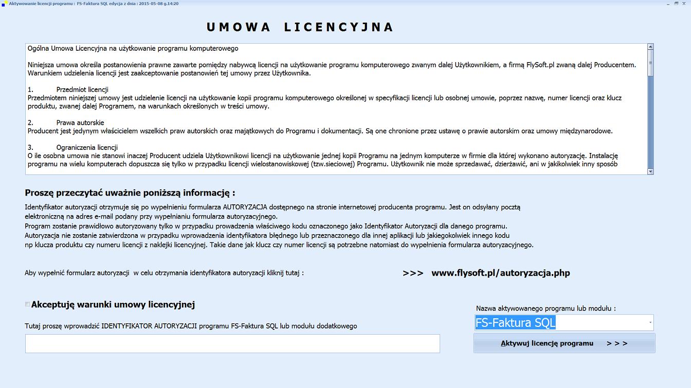 Aktywacja licencji