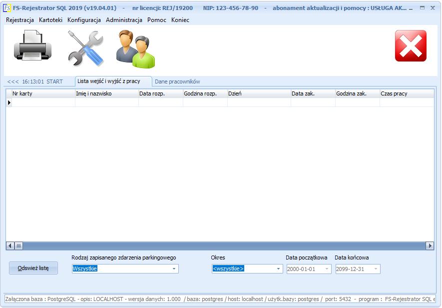 FS-Rejestrator SQL