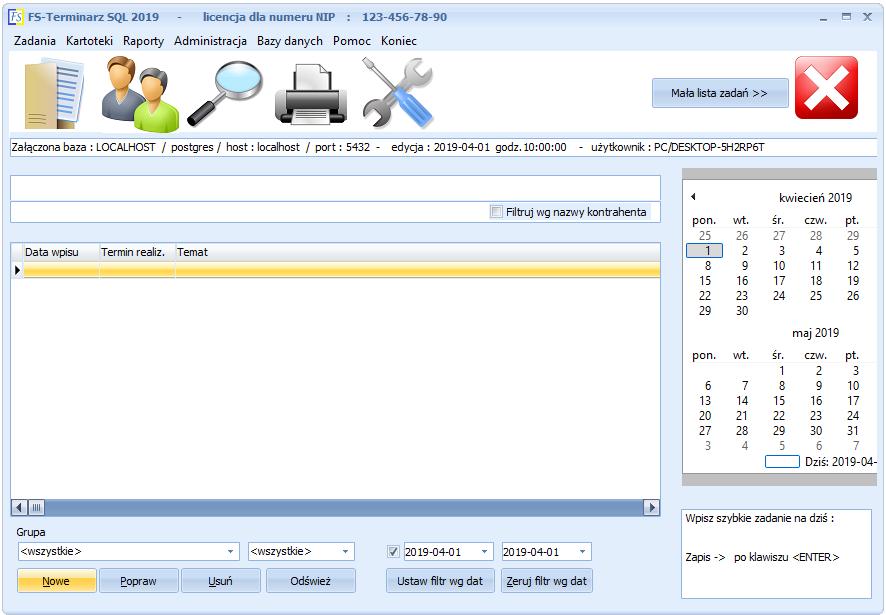 FS-Terminarz SQL