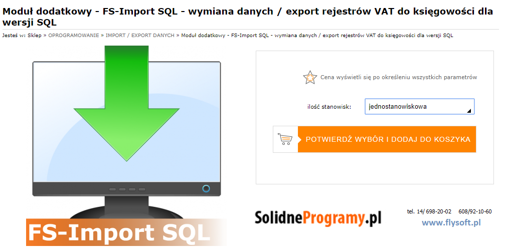 FS-Import SQL, FlySoft, SolidneProgramy, FlySoft.pl, SolidneProgramy.pl