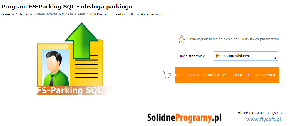 FS-Parking SQL, FlySoft, SolidneProgramy, FlySoft.pl, SolidneProgramy.pl