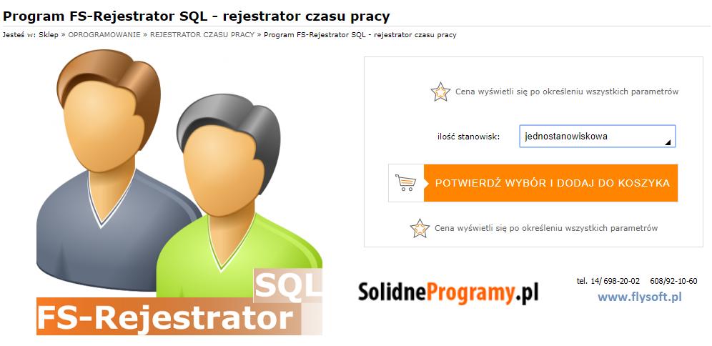 FS-Rejestrator SQL, FlySoft, SolidneProgramy, FlySoft.pl, SolidneProgramy.pl