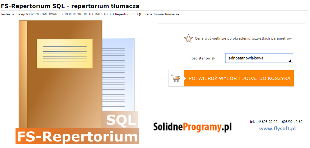 FS-Repertorium SQL, FlySoft, SolidneProgramy, FlySoft.pl, SolidneProgramy.pl