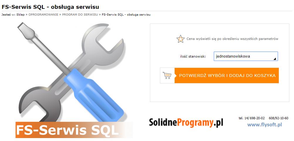FS-Serwis SQL, FlySoft, SolidneProgramy, FlySoft.pl, SolidneProgramy.pl