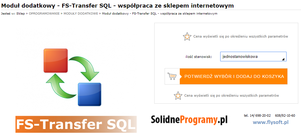FS-Transfer SQL, FlySoft, SolidneProgramy, FlySoft.pl, SolidneProgramy.pl